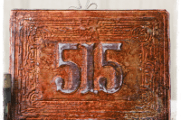 DIY copper house numbers