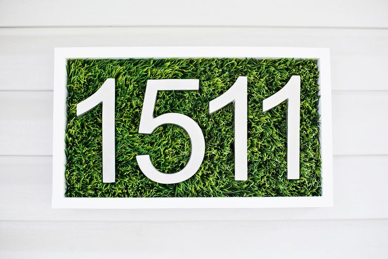 DIY grass house numbers