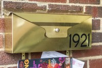 DIY wall mounted mailbox with house numbers