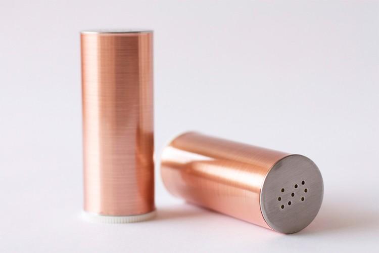 DIY copper slat and pepper shakers (via brit)