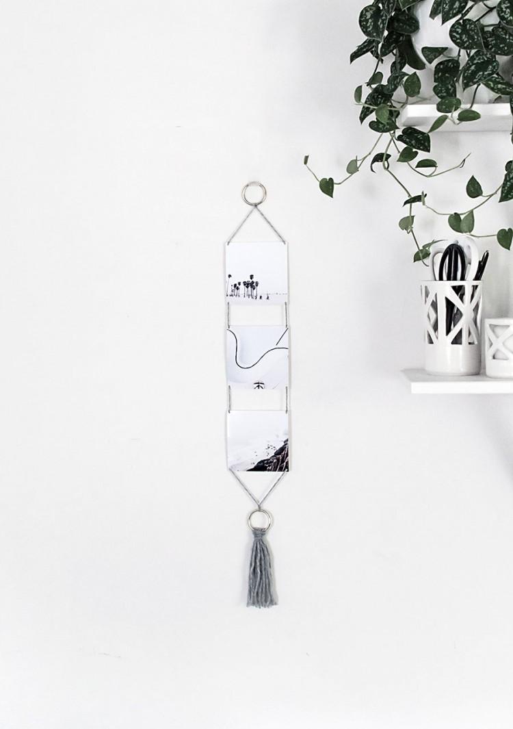 Cute DIY Modern Photo Wall Hanging