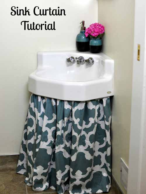 DIY Sink Curtain (via Bumblebeelinens)