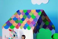 DIY origami dollhouse