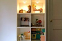 DIY bookcase dollhouse