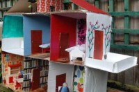 DIY dollhouse with a balcony