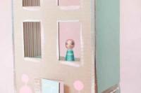 DIY pastel dollhouse