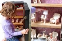 DIY suitcase dollhouse