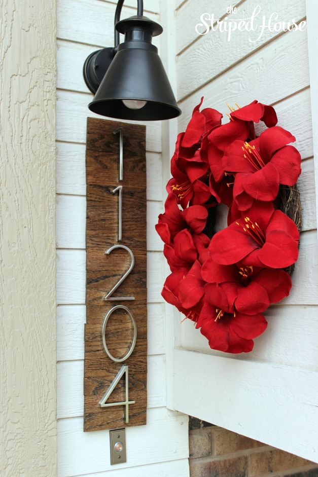 DIY Modern House Numbers On Stained Wood