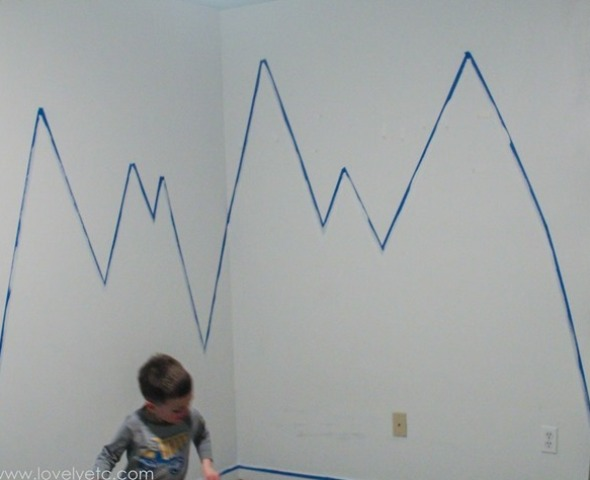 Picture Of diy mountain wall mural for a kids room  3