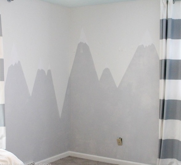 Picture Of diy mountain wall mural for a kids room  5