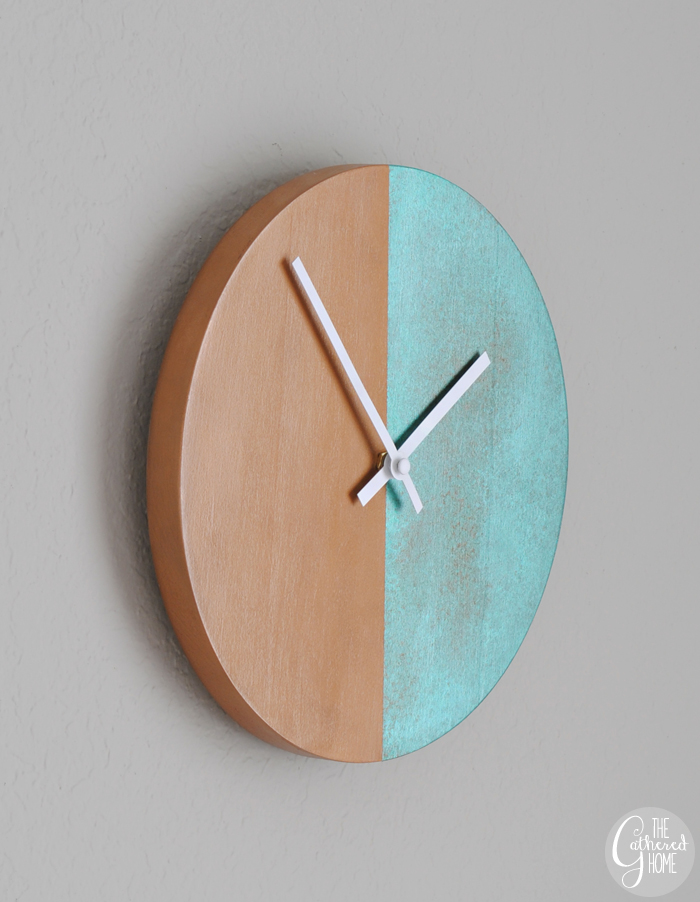 DIY patina clock (via thegatheredhome)