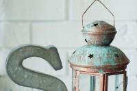 DIY patina lantern