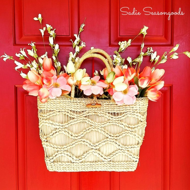 Diy Spring Straw Tote Door D Cor Shelterness