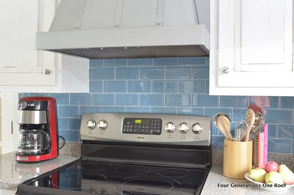 DIY tile backsplash installation