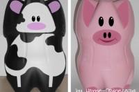 DIY plastic bottle piggy banks