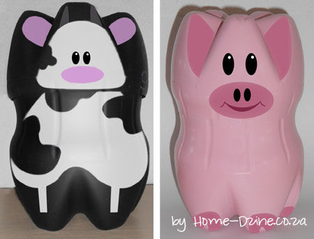 12 fun and cute piggy banks for your kids shelterness for Plastic bottle coin bank
