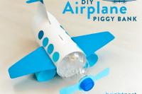 DIY bottle plane bank