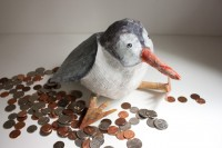 DIY paper mache birdy bank