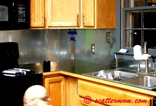 functional diy stainless steel kitchen backsplashes shelterness