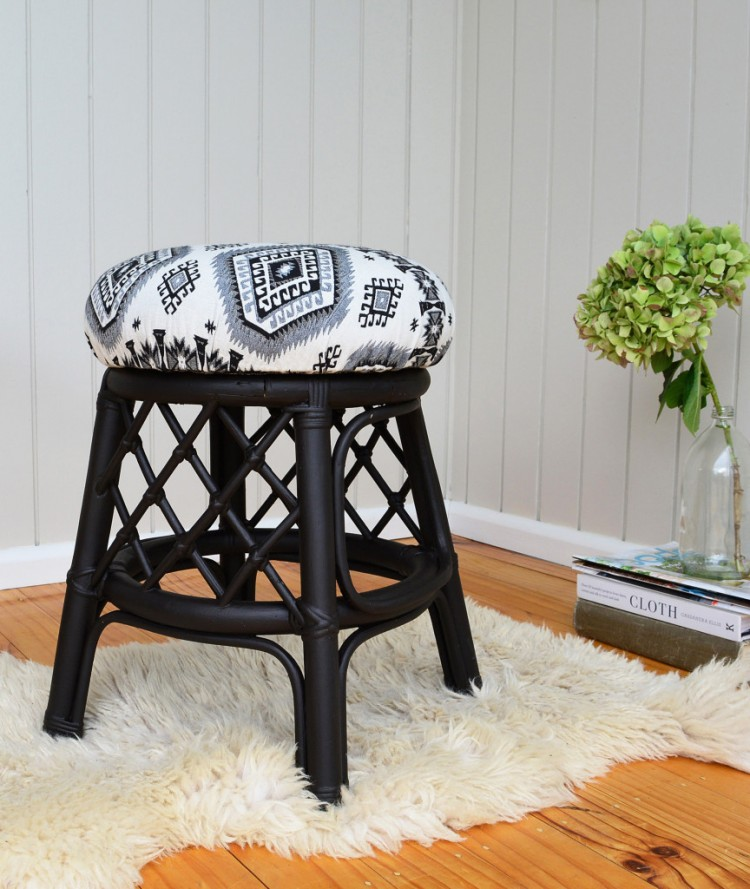 How To Reupholster And Repaint A Stool