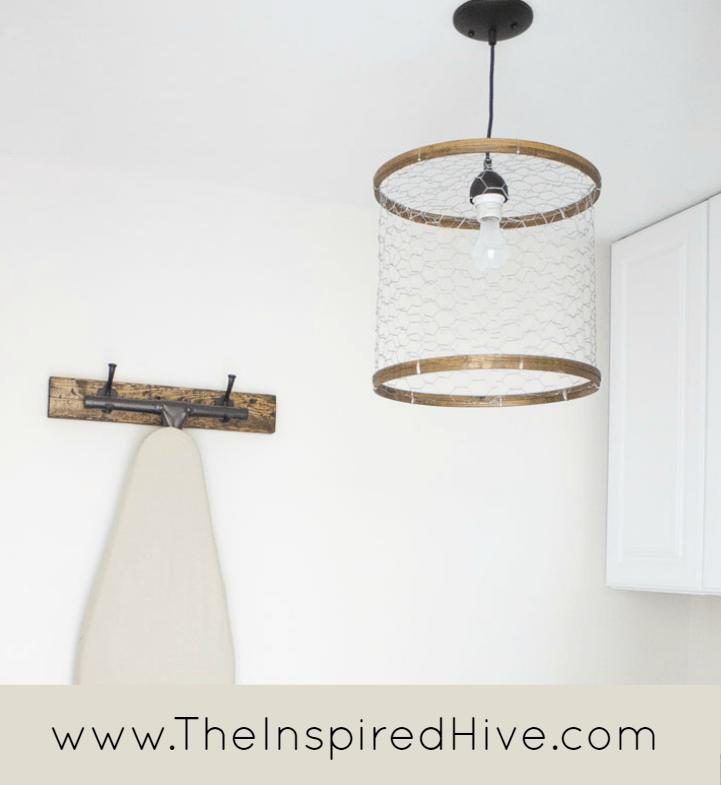 Kitchen DIY Chicken Wire Light Fixture