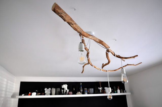 Nature-Inspired DIY Tree Branch Chandelier