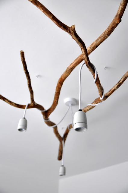 Nature Inspired Diy Tree Branch Chandelier Shelterness