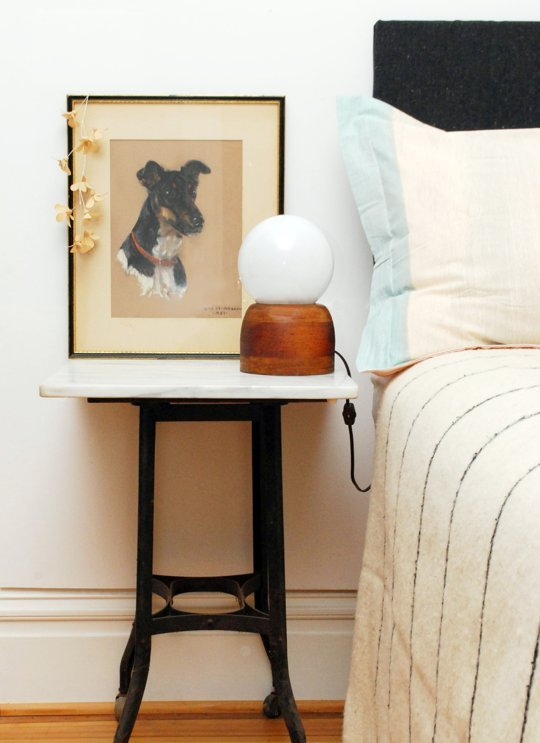 DIY round lamp (via apartmenttherapy)