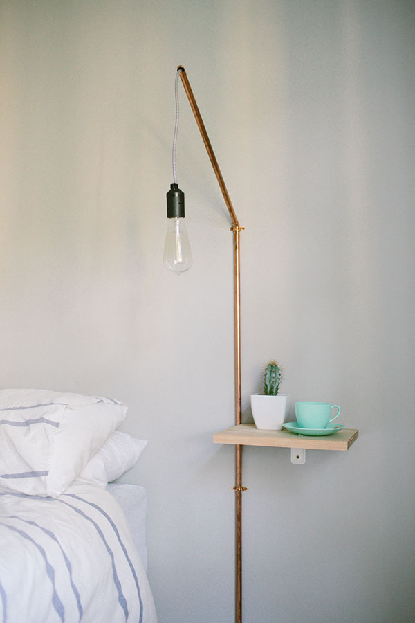 DIY industrial copper lamp (via elle)