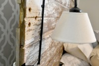 DIY headboard sconce