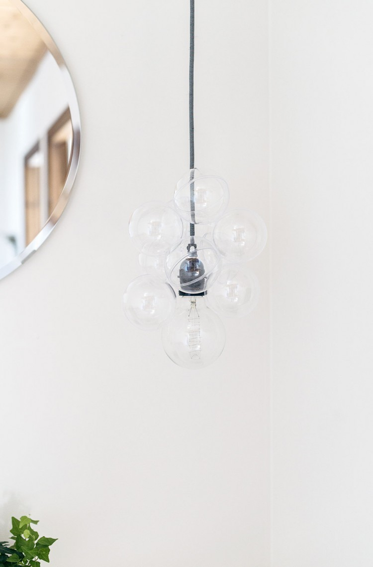 Scandi Inspired DIY Glass Bauble Lamp