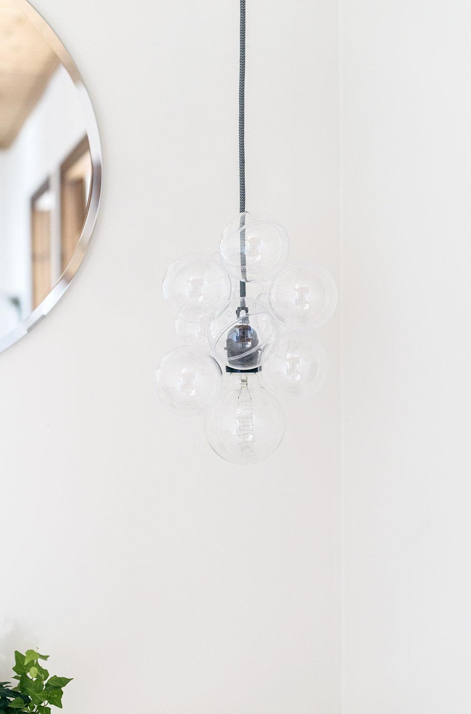 Scandi-Inspired DIY Glass Bauble Lamp