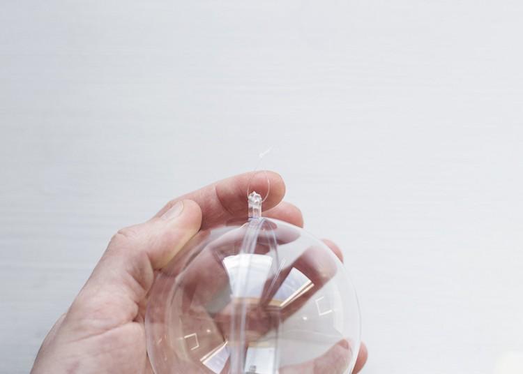 Scandi Inspired DIY Glass Bauble Lamp