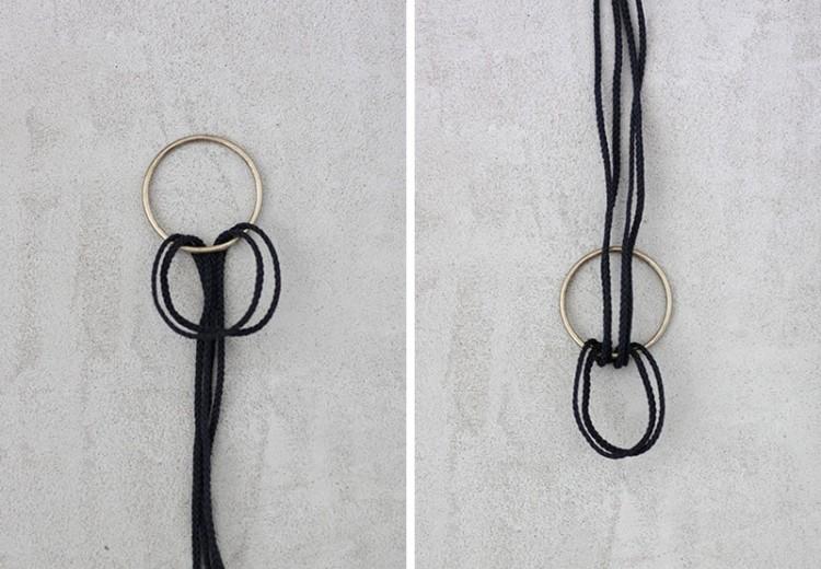 Simple DIY Shelves Hanging From Rings