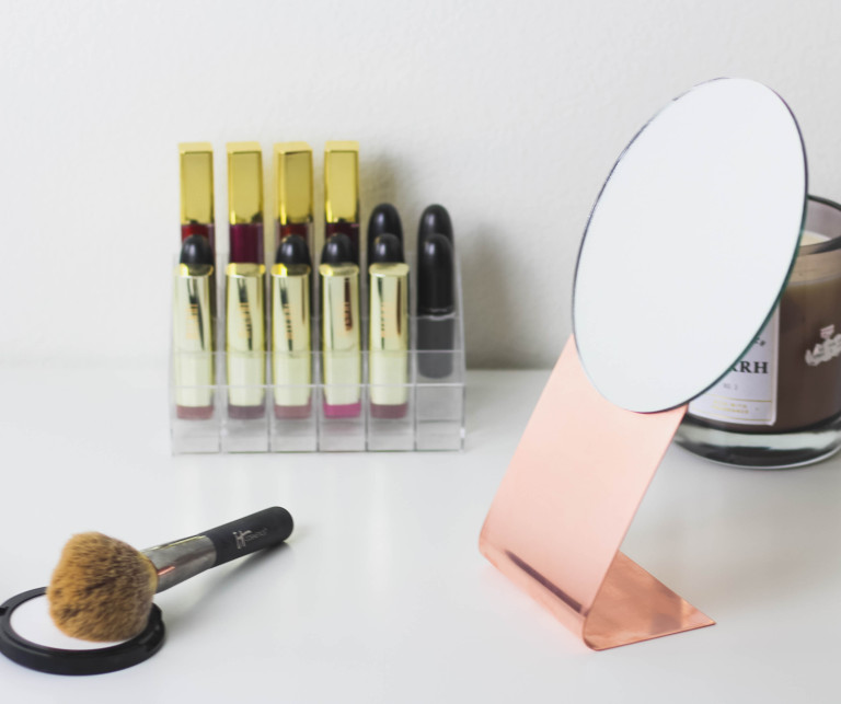 Picture Of stylish diy copper table mirror to make  5