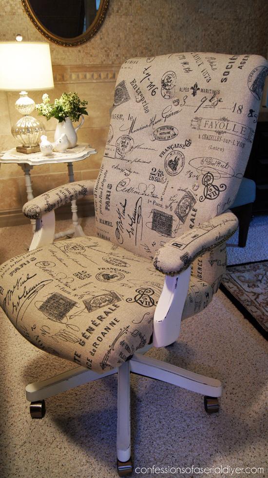 DIY desk chair makeover (via confessionsofaserialdiyer)