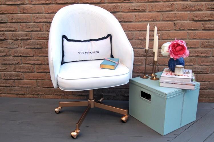 DIY Leather Chair Repaint (via Decoist)