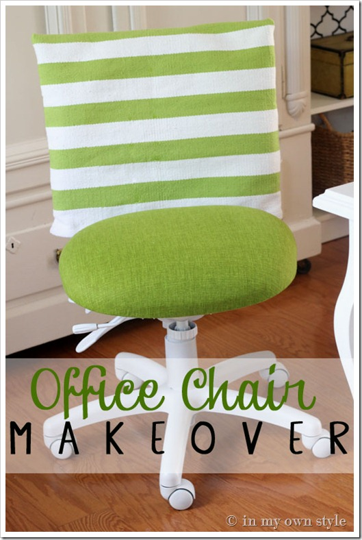 Stunning DIY office chair redo via inmyownstyle