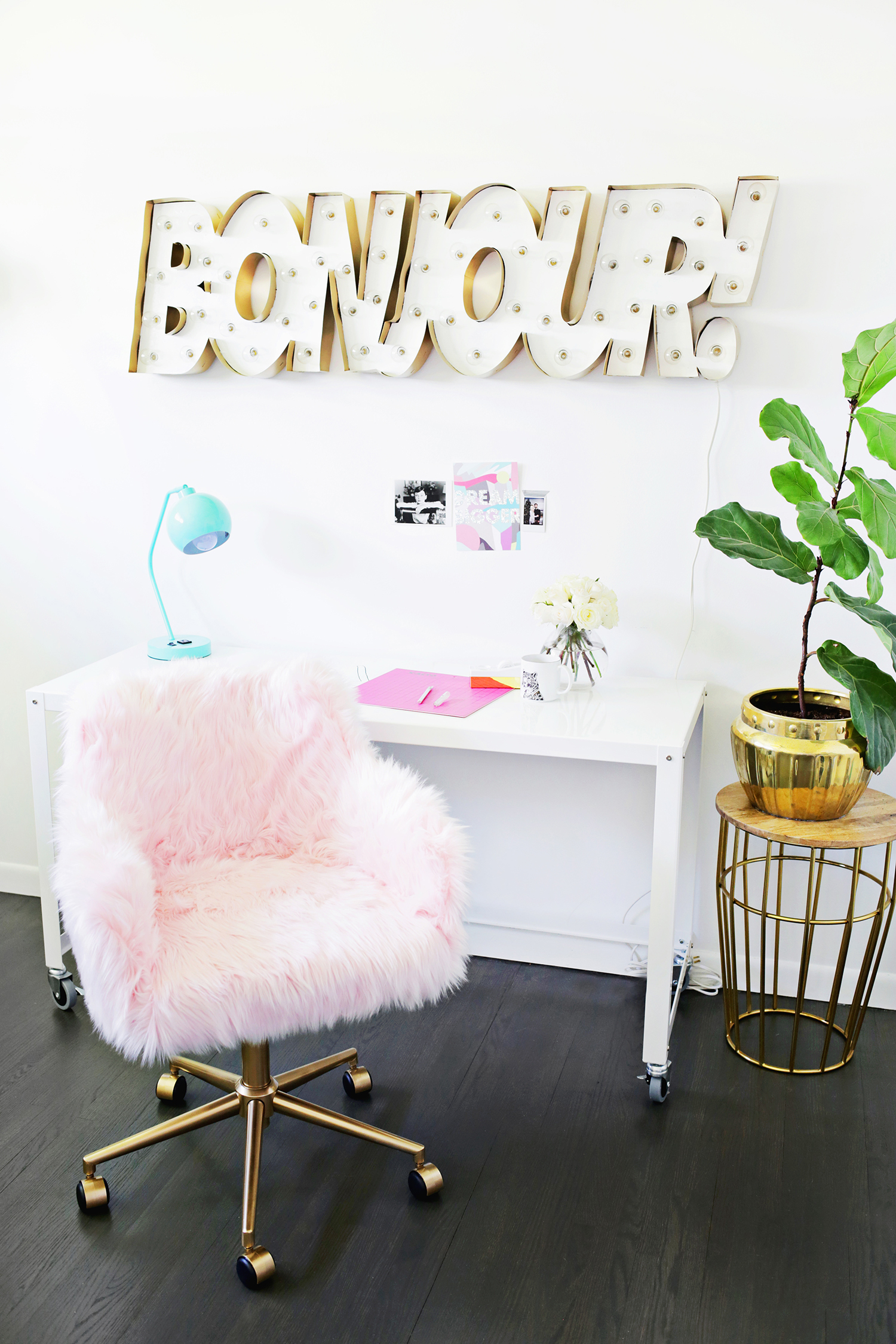 DIY fur chair makeover
