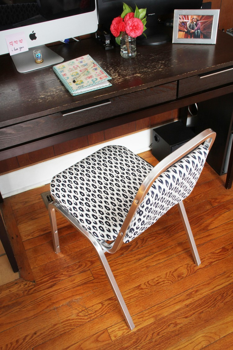 stylish home office chair. DIY Desk Chair Transformation (via Wecanmakeanything) Stylish Home Office I