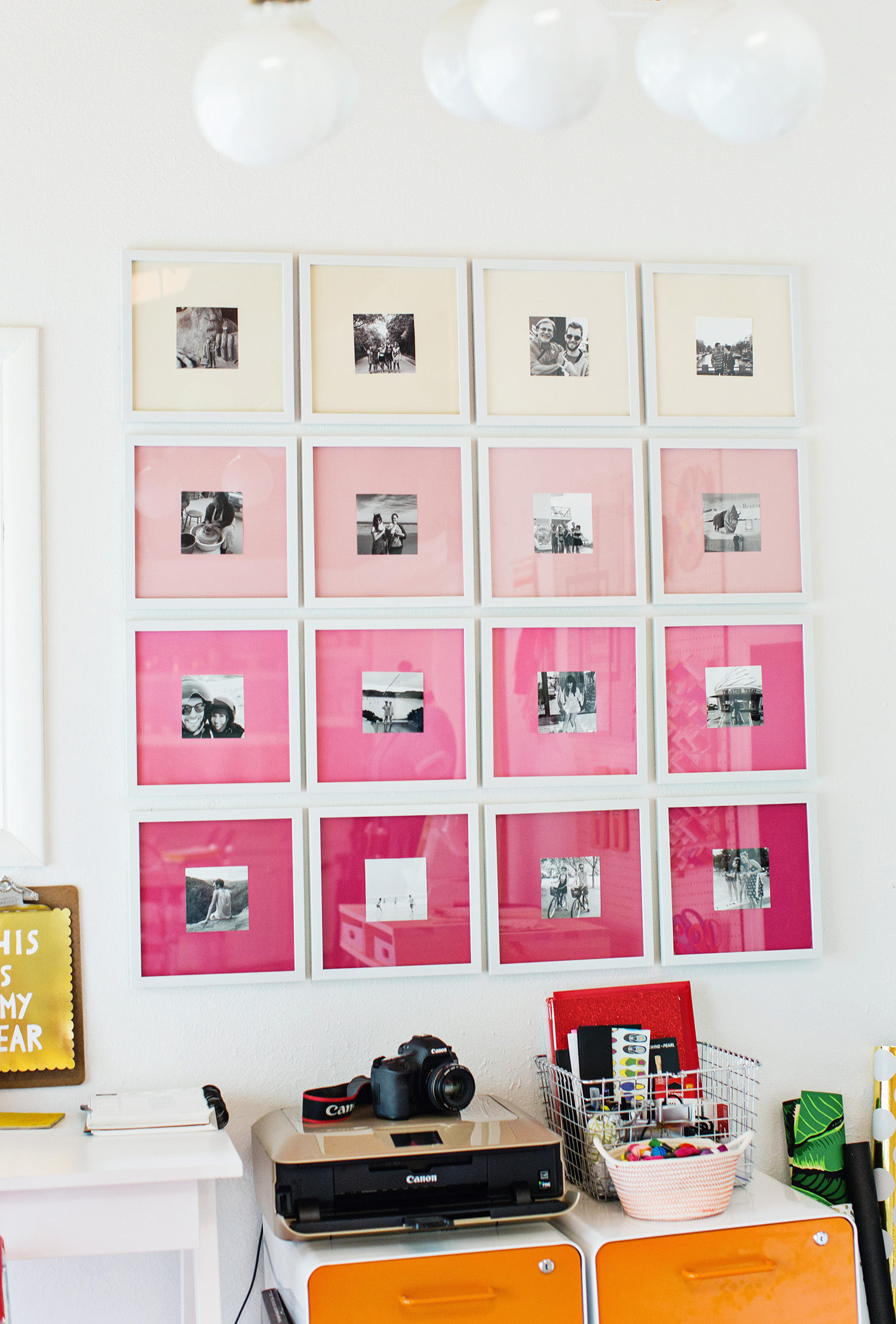 Picture Of stylish diy ombre gallery photo wall  1
