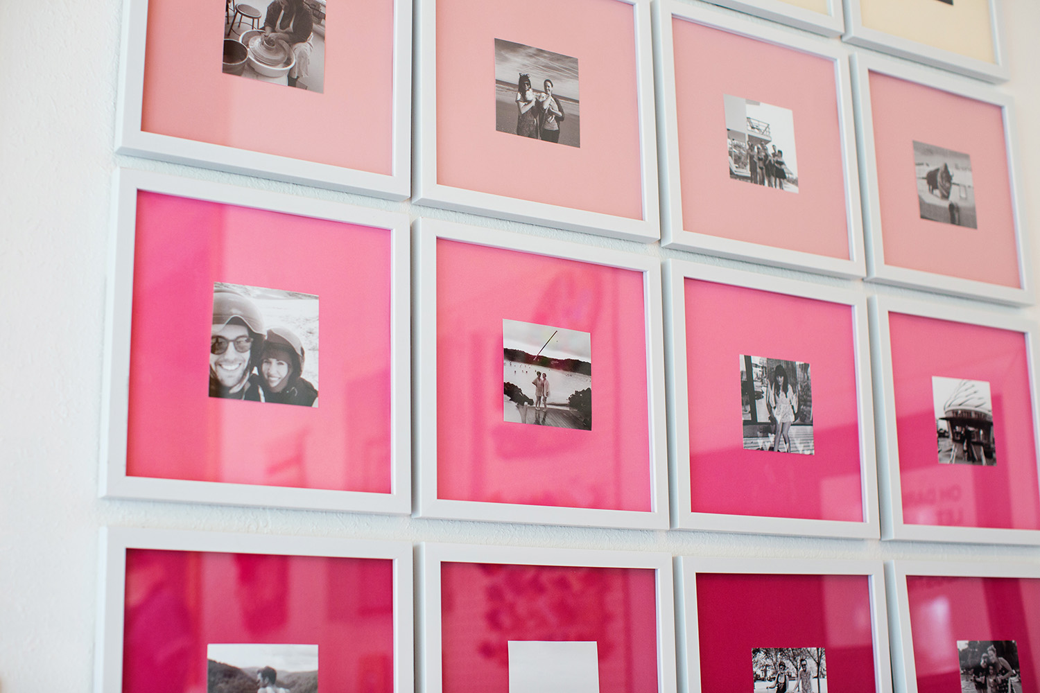 Picture Of stylish diy ombre gallery photo wall  3