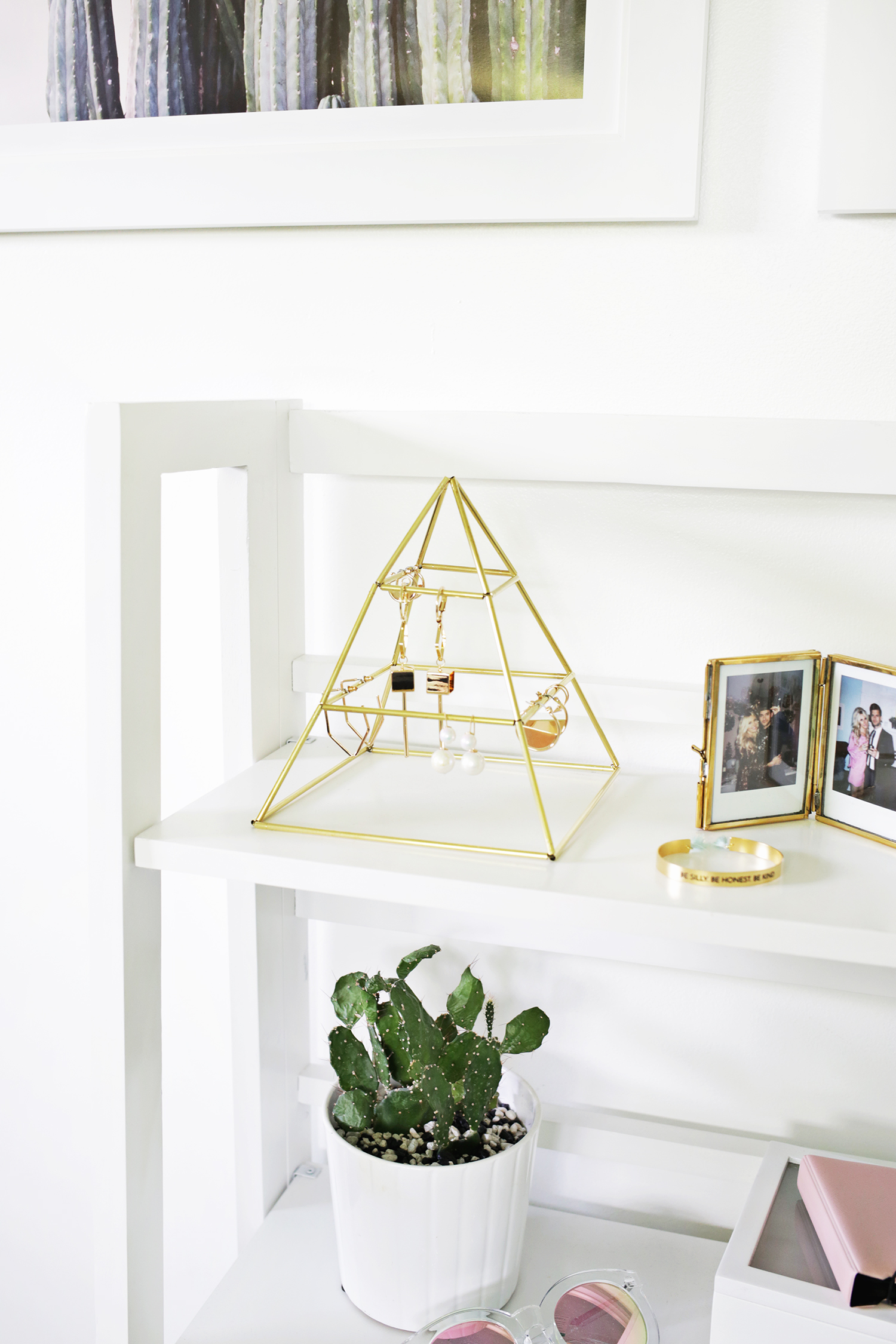 Picture Of trendy and eye catching diy brass earring pyramid  2