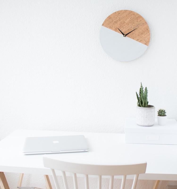 Trendy DIY Cork Color Block Clock