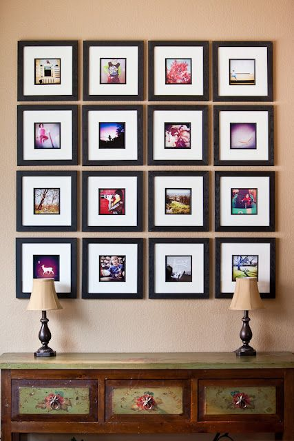 picture frame wall ideas 26 gallery wall ideas with same size frames shelterness 4185