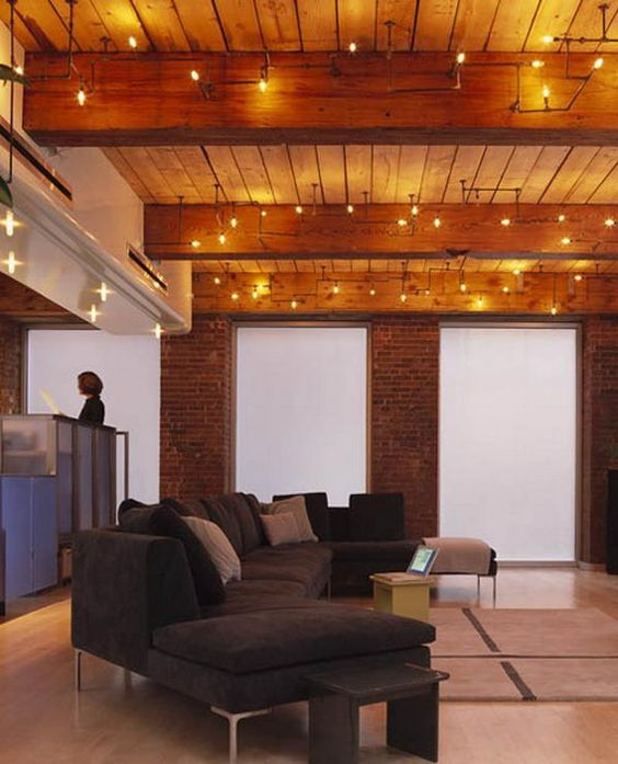 36 practical and stylish basement ceiling d cor ideas for Exposed wood beam ceiling
