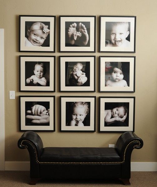 26 gallery wall ideas with same size frames shelterness for Wall of framed pictures