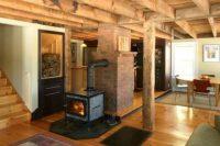 06 rustic wood basement ceiling