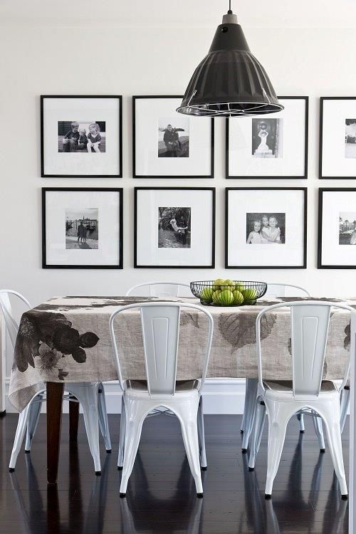 Gallery Wall Ideas Black And White : Gallery wall ideas with same size frames shelterness