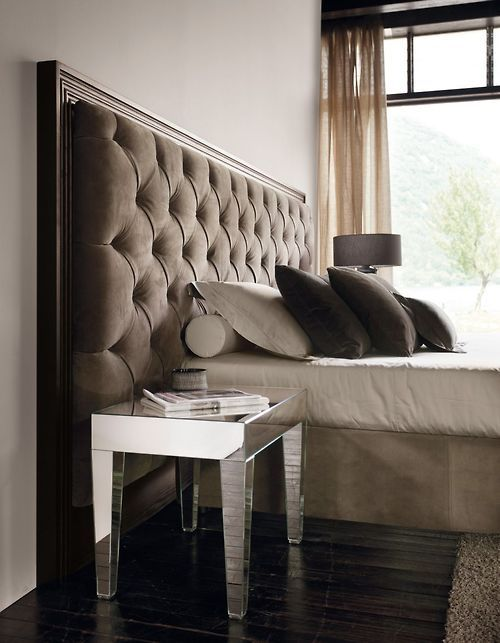 large framed tufted headboard